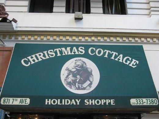 Shopping à New York : Acheter des décorations de Noël au Christmas Cottage