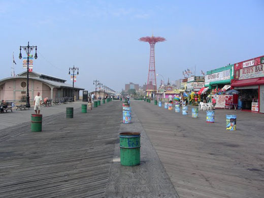 Promenade a Coney Island